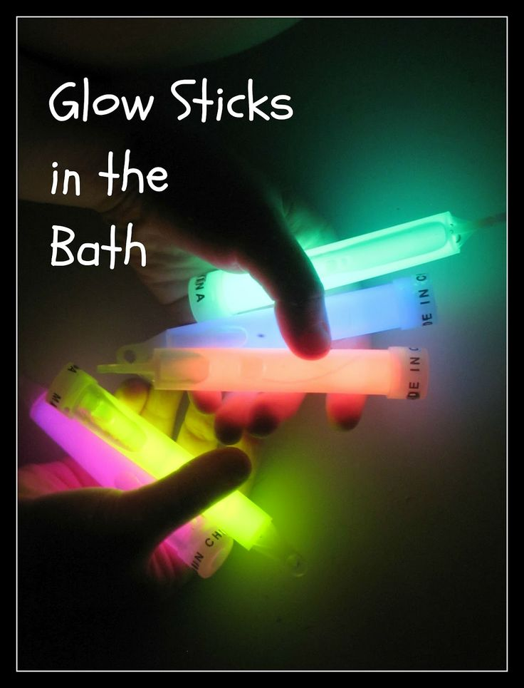 Glow Sticks + Bath Time = FUN