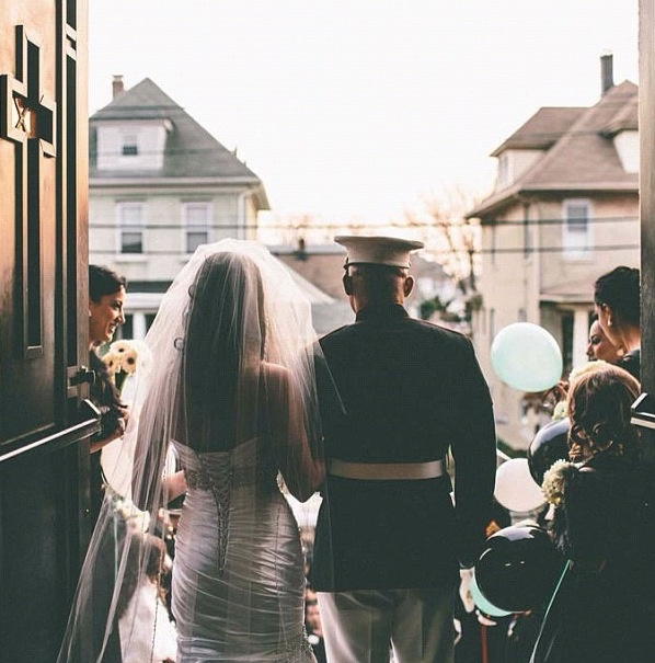 ❤ marine wedding