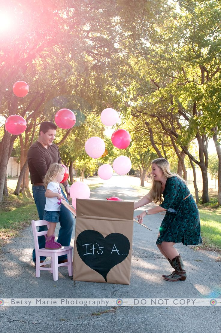For the Future: Have the ultrasound people write it down and place in a sealed envelope. Tell the balloon people too put the right color in the box and everyone can be surprised!...this would be good to have a photo of for annoucements