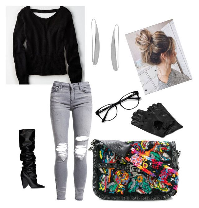 """Sunday morning coffee"" by alexiss-yvore on Polyvore featuring Valentino, Yves Saint Laurent, American Eagle Outfitters, AMIRI, Humble Chic, EyeBuyDirect.com, Napoli and statementbags"