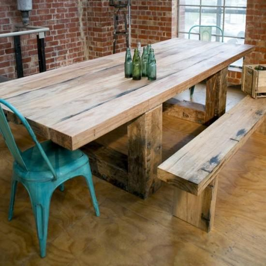 Best 25 Chunky dining table ideas on Pinterest Farm style