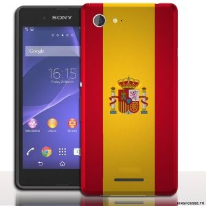 coque e3 sony español - coque drapeau pour smartphone #Coque #Xperia #E3 #Case #Cover #Sony #drapeau #espagnol