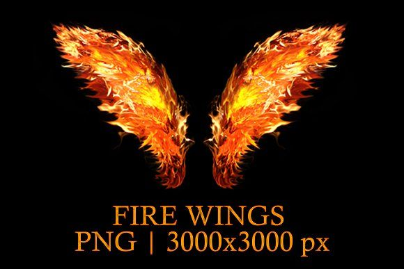 Fire Wing Png By Creativeland On Creativemarket Wings Png Wings Of Fire Png