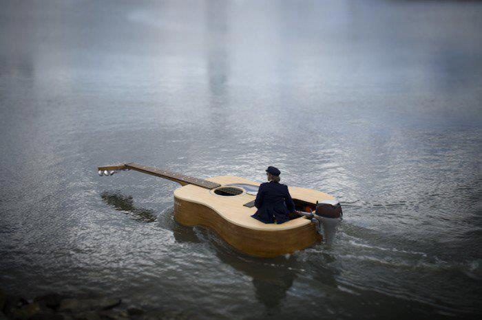 floating on music