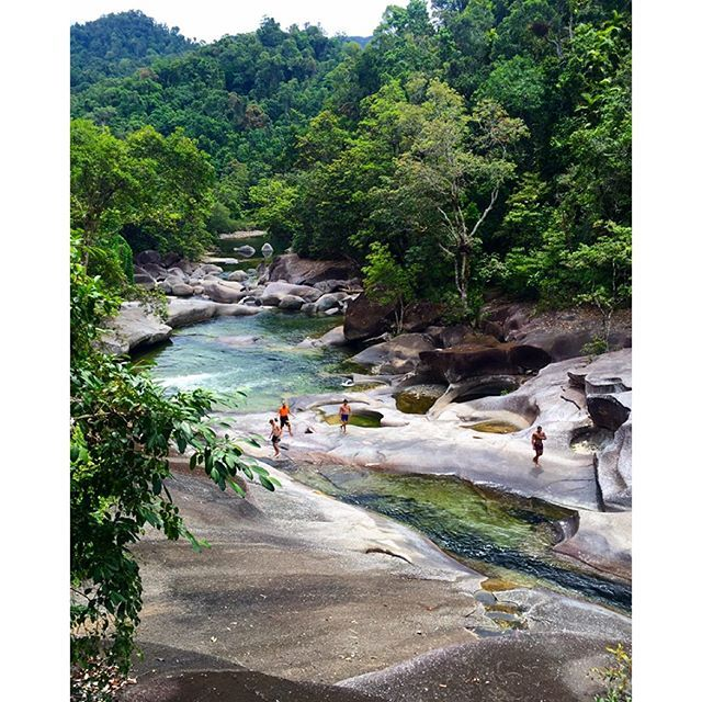 Babinda Boulders are set in the lush tropical rainforests in Babinda, northern Queensland, Australia #thisisqueensland by @travelhub