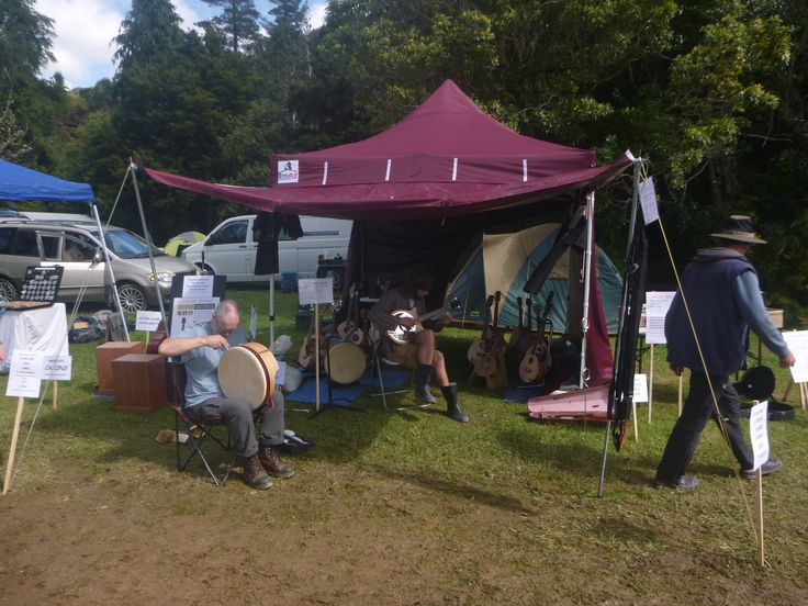 Barebones Folk Instruments trade display, Wellyfest 2015.
