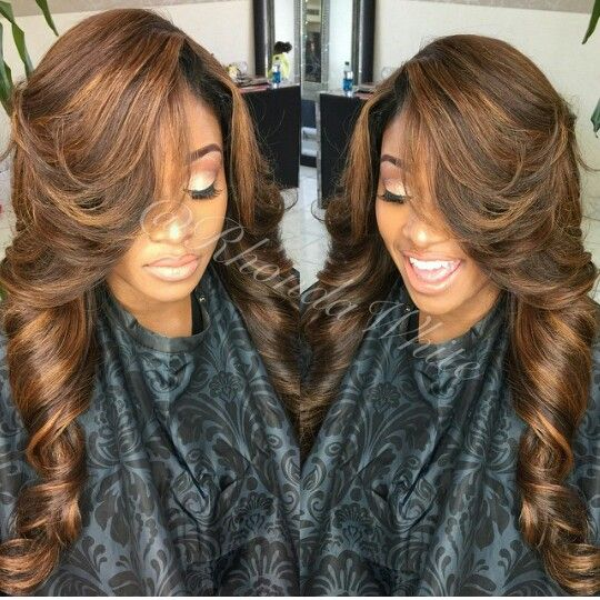 Love the colors and side swoop