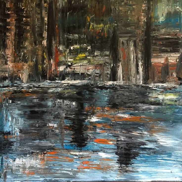 Anger & change...oil on canvas, 100x100cm