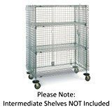 "Metro SEC56EC Super Erecta Chrome Plated Heavy Gauge Wire Mobile Security Storage Unit, 900 lbs Capacity, 65"" Length x 27-1/4"" Width x 68-1/2"" Height"