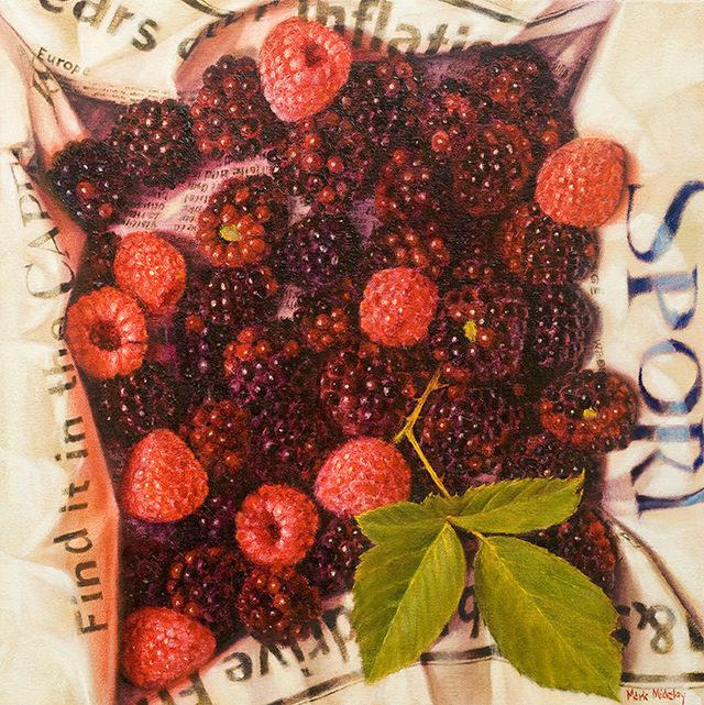 Box of raspberries