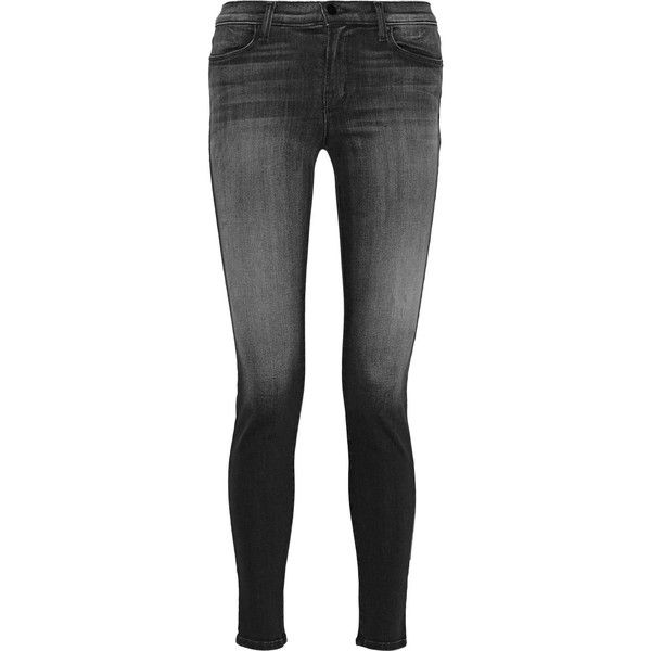 J Brand 620 Super Skinny mid-rise jeans ($135) ❤ liked on Polyvore featuring jeans, pants, bottoms, grey, mid rise skinny jeans, j brand, medium rise jeans, skinny jeans and j-brand skinny jeans