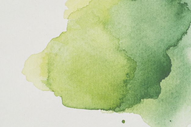 Download Watercolor Stain Of Various Shades Of Green For Free In