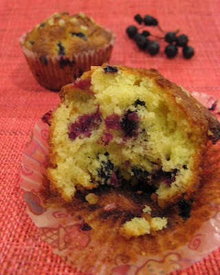 NAMI-NAMI: a food blog: WHB: These are not blueberry muffins, but black chokeberry ones