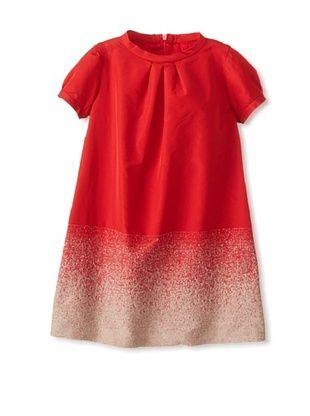 50% OFF Il Gufo Kid's Wool Flocked Dress (Red)
