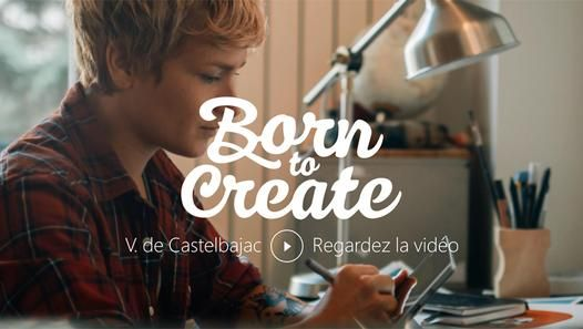 Born to Create présente : Vaïnui de Castelbajac => BornToCreate http://borntocreate.lemonde.fr Surface s'associe à la Splendens Factory, vivier artistique parisien, pour l'opération Born To Create. Rencontre de Vaïnui de Castelbajac, illustratrice et réalisatrice d'animations, à travers un portrait haut en couleurs. De ses premiers croquis jusqu'à son exposition lors du festival de la Splendens Factory, suivez-là pas à pas dans son processus de création d'images avec la Surface Pro 3.