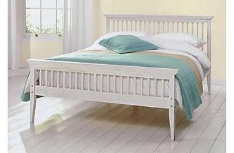 Tesco direct: Comfy Living 3ft Single Shaker Style Wooden Bed Frame in White