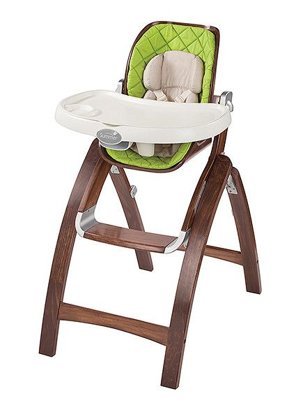 Best Classic Choice  Finally, a high chair to match your kitchen table. The wood finish is a welcome change from the plastic baby gear already all over your house. What we love:     A three-position recline and four-position height adjustment give you plenty of versatility Want to match your other decor? The comfy replacement seat pads come in five different colors   Buy it: $160, Amazon.com