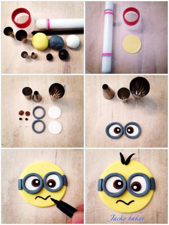 #HowTo Fondant MINION Cupcake Topper #Tutorial