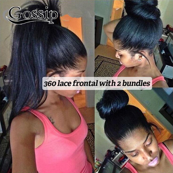 360 Spitze-stirn Schliessen Mit Bundles Brasilianisches Reines Haar 360 spitze Band Frontal Mit Bundles 360 Spitze Frontal Mit Bündel verkauf