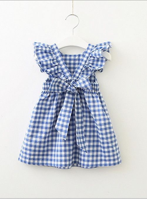 75857e8ddc73 Kids   Toddler Girls  Active   Sweet Check Short Sleeve Dress Blue 2019 - US