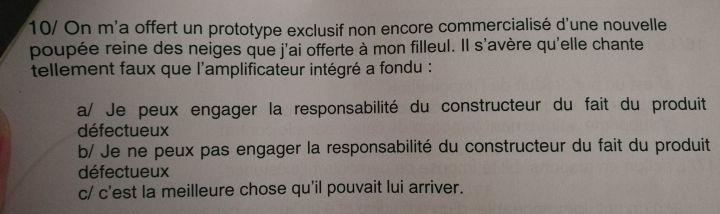 Les énoncés délirants d'un examen de droit d'une fac de Lyon