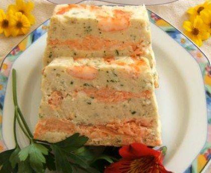 julienne, saumon, oeuf, crème fraîche épaisse, crevette rose, persil, Poivre, Sel