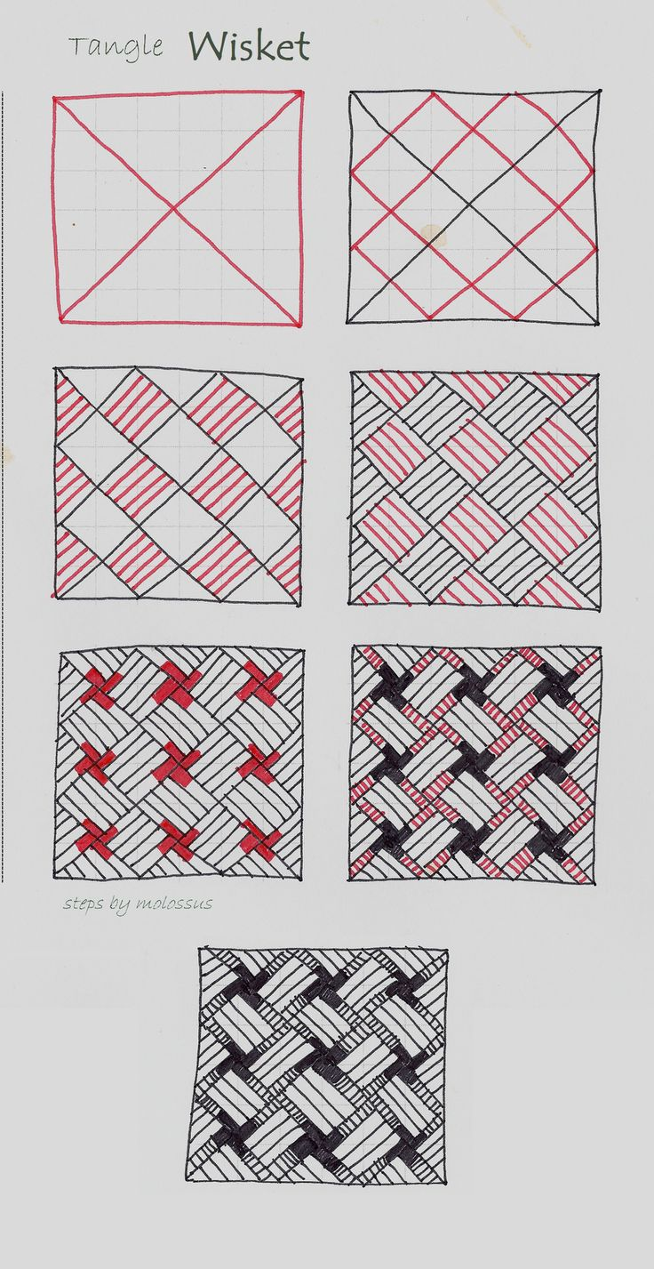"How to Zentangle Patterns Free | Life Imitates Doodles: My tangle pattern ""Wisket"""