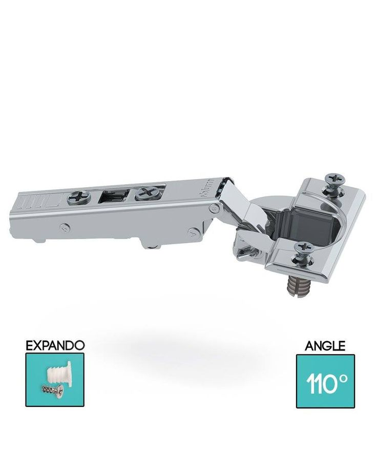 CLIP top standard hinge 110°, Overlay application  Opening angle: 110°