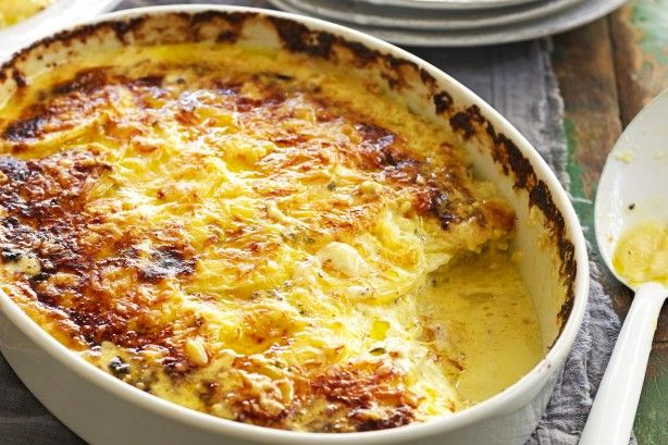 Create an amazing side with this delicious Cheesy Potato Gratin recipe.