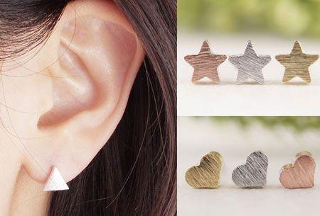 Minimalistische oorbellen set van 3 paar | Hip, trendy en stijlvol