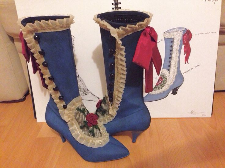 19th century boots design made by me/Bilge Avci