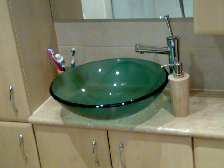 Funky Modern Bathroom Sink Clear Bowl Style Feature Make Your Home Design Dreams Come Part