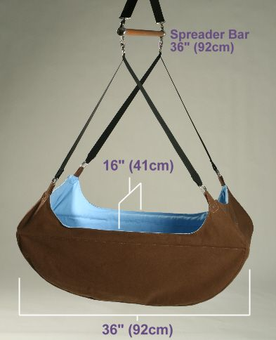 Babies just seem to love being in them and many parents swear by them. This hammock is the very latest design incorporating a bed shape which gently supports the natural C-curve of baby's spine. Sleeping babies in hammocks is a very traditional and effective method of settling babies as baby feels cradled and lulled just as they did in the womb