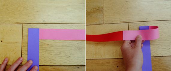 5. Fold the horizontal strip across and crease.