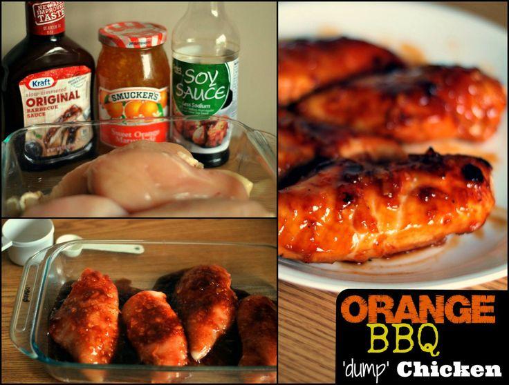 Orange BBQ Dump Chicken