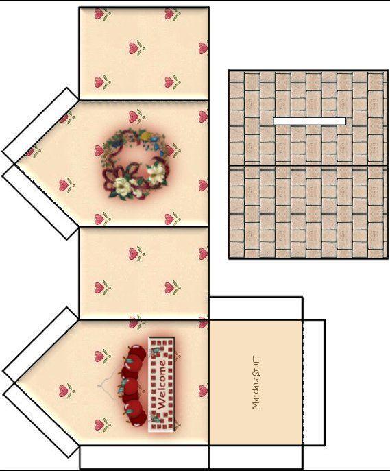 Dibujos de moldes para casitas de carton - Imagui