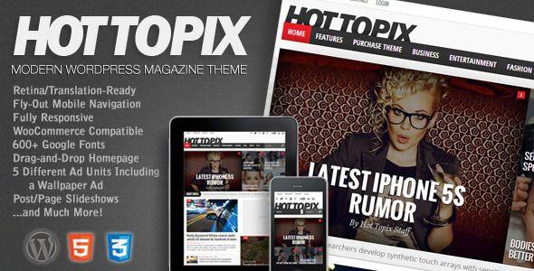 Hot Topix - Modern Wordpress Magazine Theme - News / Editorial Blog / Magazine