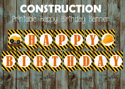 Construction Birthday party package,  Construction Party Supplies