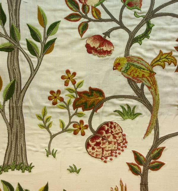 Morris and Co Archive Embroderies Kelmscott Tree Fabric Collection 230342 230342