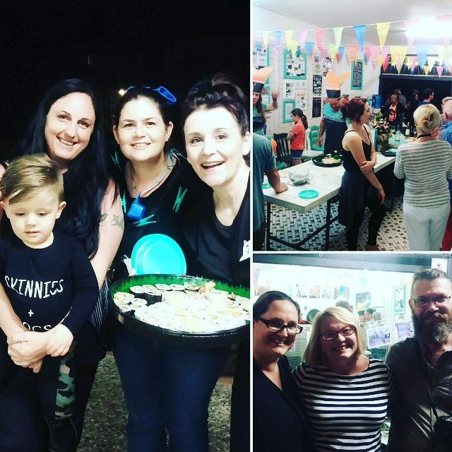 We partied at the laundromat! White wine and sushi! We celebrated one year of owning Koala Park Laundromat in Burleigh Heads - with family and friends. It was a lot of fun :D