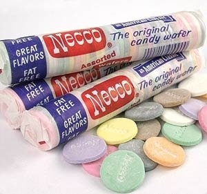 Necco Wafers - They tasted like flavored chalk.