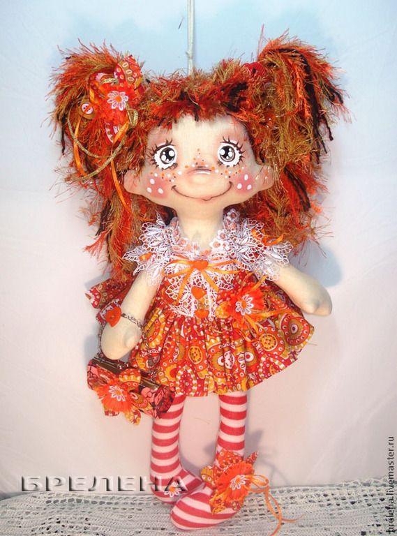 """Текстильная кукла """"Мой Рыжик """"- Фея Хорошего Настроения. - рыжий,интерьерная кукла"""