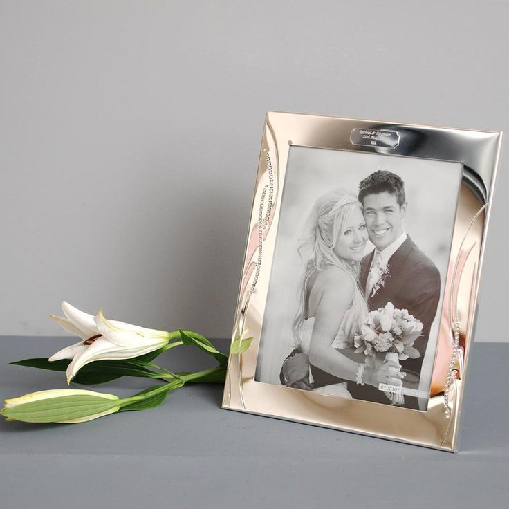 I Just Love It Engraved Diamante Photo Frame Engraved