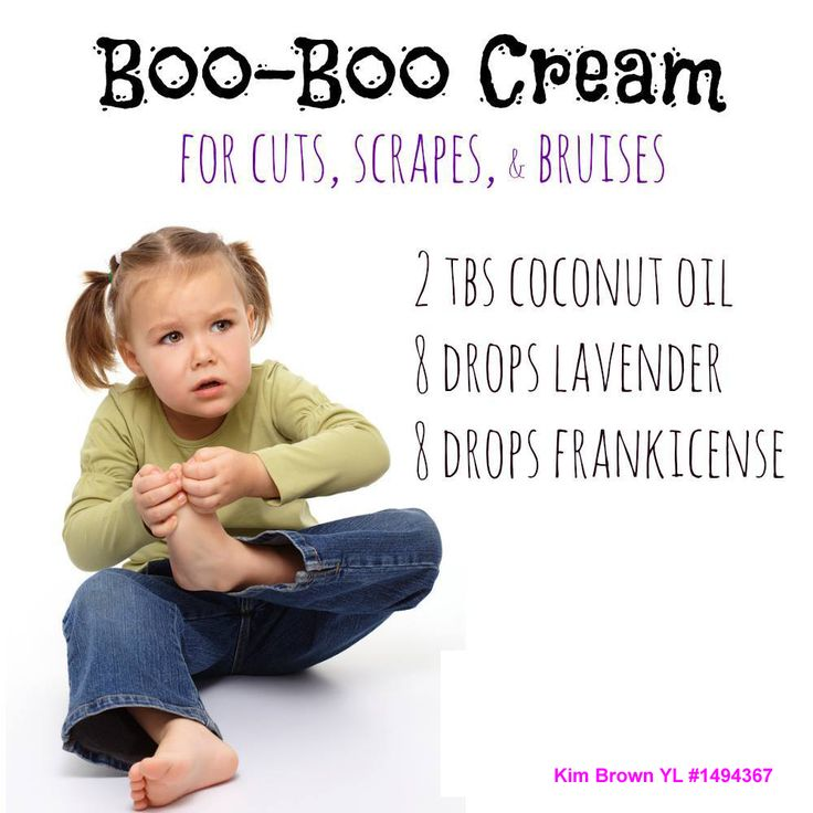 Boo-boo cream for children / kids. Great recipe. Oils for premium starter kit from Young Living