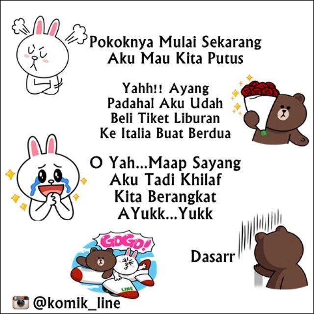 "@komik_line's photo: ""Maap yank Aku td khilaf yukberangkat :)) #komik_line #conybrowndating"""