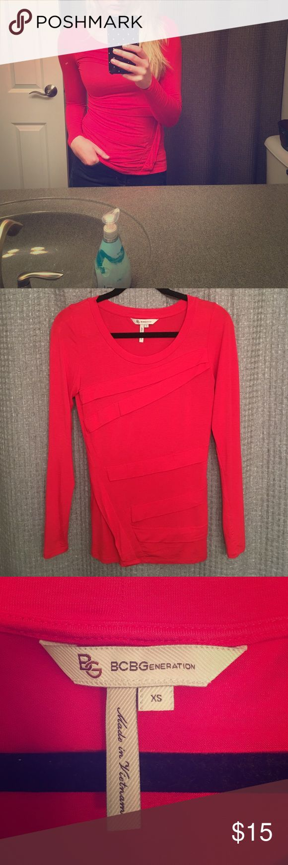 BCBGeneration Top Bright red BCBGeneration long sleeve BCBGeneration Tops Tees - Long Sleeve
