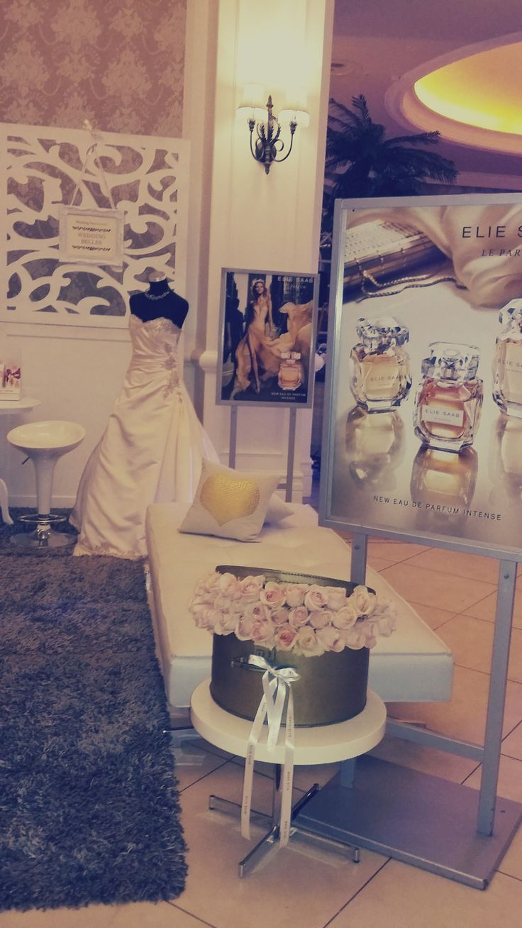 The Elie Saab Perfume stand which we decorated
