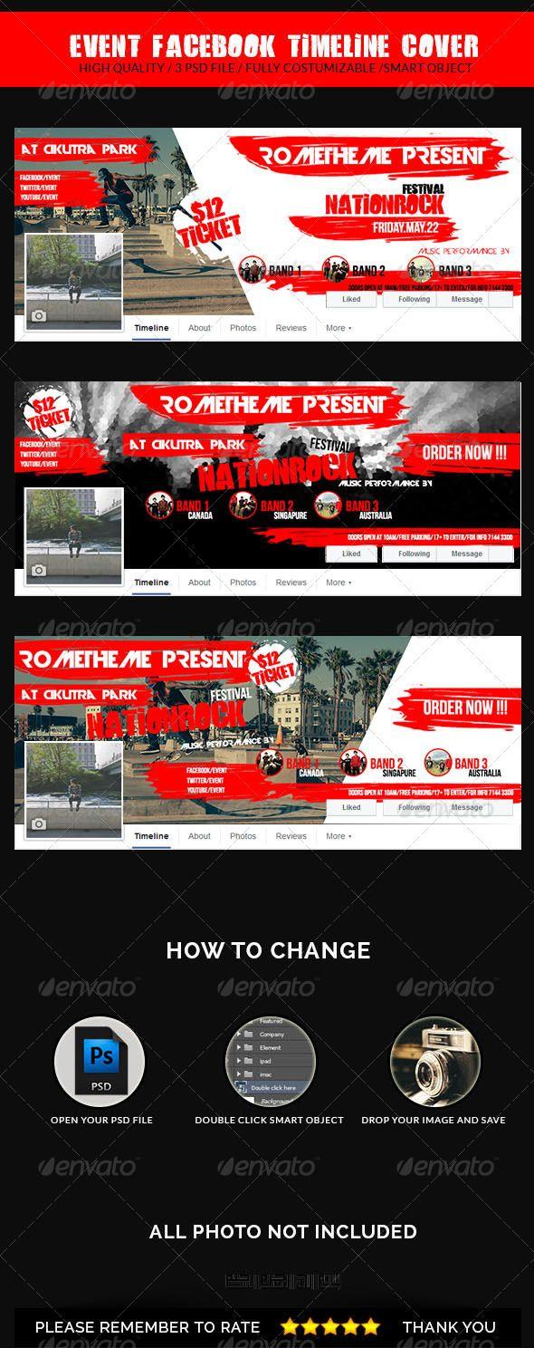 Event Facebook Timeline Cover #facebookcover #facebooktimelinecover #facebook #cover #timeline #event #red #rometheme #yahdiromelo #yaevien