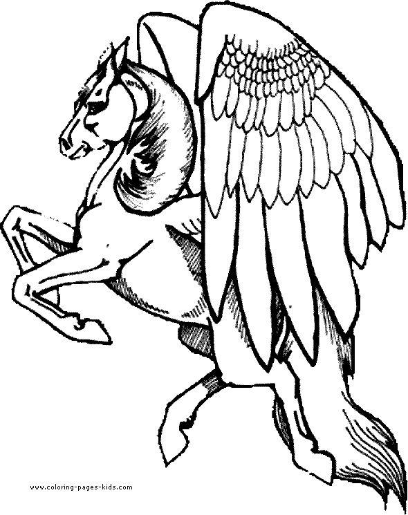91 best Pegasus to Color images on Pinterest | Pegasus ...