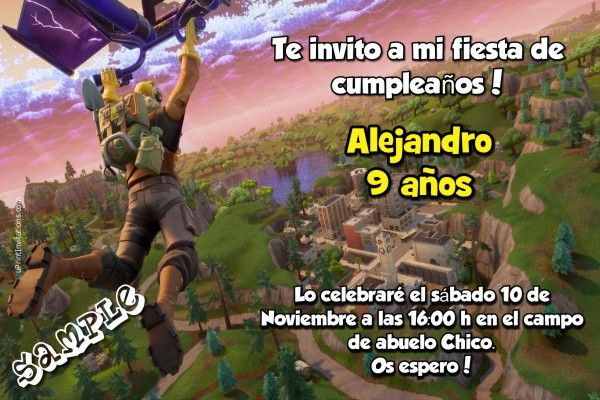 Fortnite Birthday Invitations Fortnite Drop In Birthday